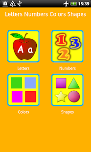 Letters Numbers Colors Shapes- screenshot thumbnail