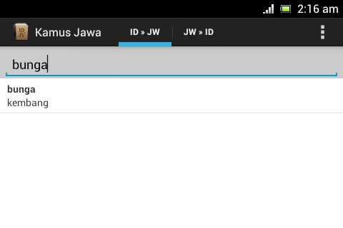 Javanese Dictionary - screenshot
