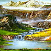 Fantasy Mountain Waterfall LWP