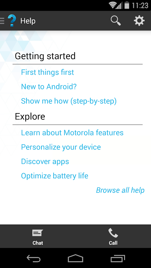 Motorola Help - screenshot