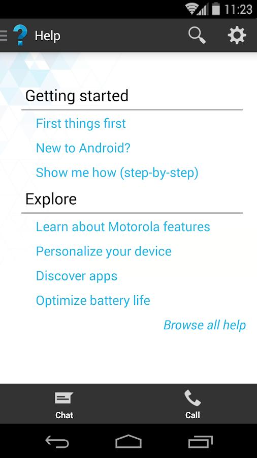 Motorola Help- screenshot