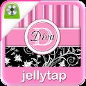 Pink Striped Monogram Locker ★ icon