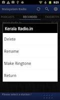 Screenshot of Malayalam Radio