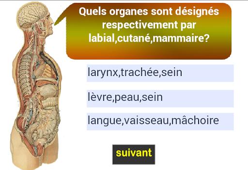 adjectifs d'anatomie