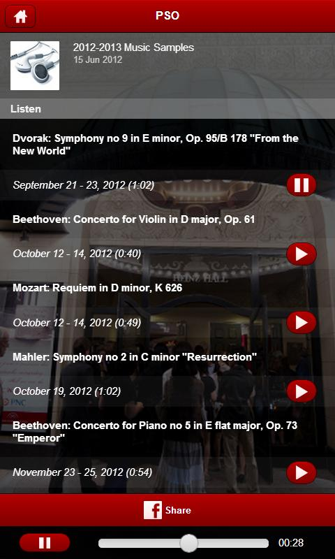 Pittsburgh Symphony Orchestra - screenshot