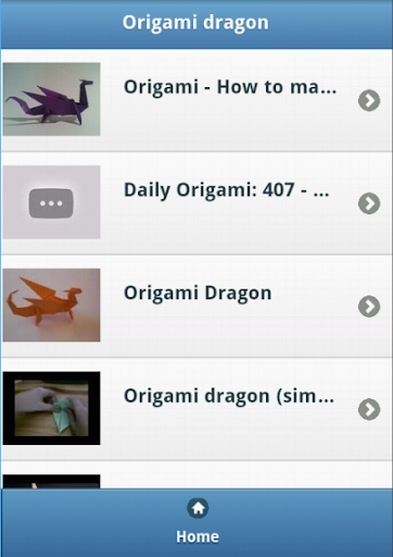 Origami dragon Video