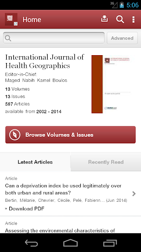 Journal of Health Geographics