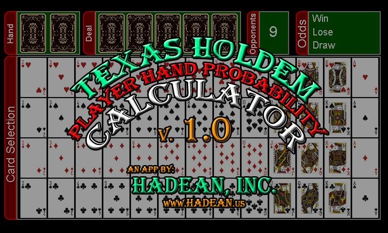 how to play texas 7 card holdem calculator scientific