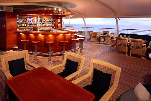 Top-of-the-Yacht-Bar-SeaDream - Unwind at the Top of the Yacht Bar Deck on your SeaDream sailing.