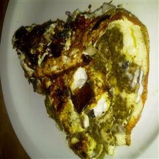 Portobello Pesto Egg Omelette
