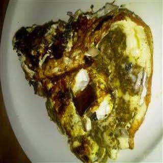Portobello Pesto Egg Omelette.