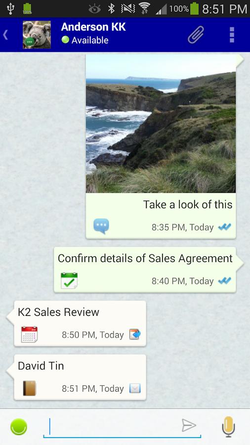 VCOrganizer Tab - screenshot