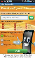 Screenshot of Prank call your friends
