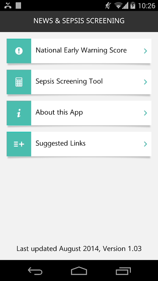 NEWS & SEPSIS SCREENING- screenshot