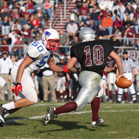 The Sack by Eddie Jeffries - Sports & Fitness American and Canadian football ( for gameday, kyle #50, pv vs warren county high 11-20-2010, 2010 pv slide show, calendar,  )