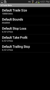 OANDA fxTrade for Android - screenshot thumbnail