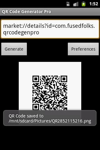 QR Code Generator Pro - screenshot