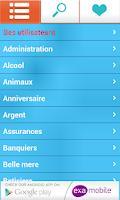 Screenshot of Blagues et Plaisanteries