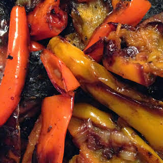 Grilled Peppers and Portobello Mushrooms.