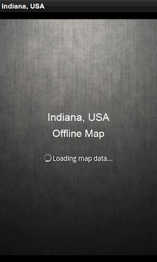 離線地圖 美國印第安納州