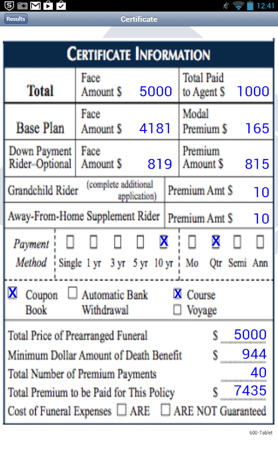 gwic iPremium Calculator- screenshot