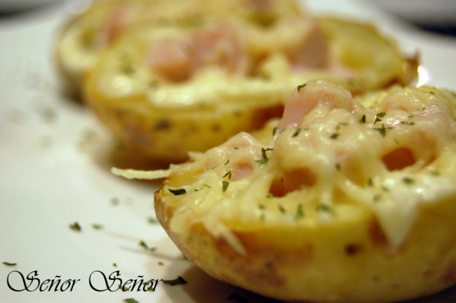 Potato Skins with Turkey and Low-Fat Cheese Recipe