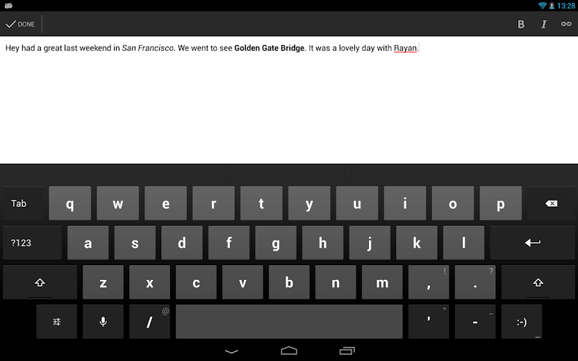 Screenshot 6 for Blogger's Android app'