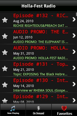 Holla-Fest Radio - screenshot