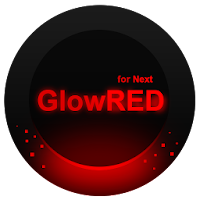 Next Launcher Theme GlowRed 1.3.9