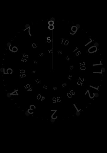 Anticlockwise Night Clock