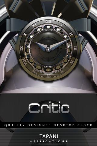 Designer Clock Widget CRITIC