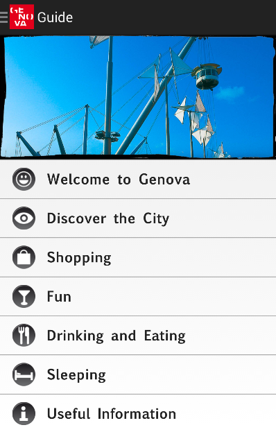 Genova official guide- screenshot