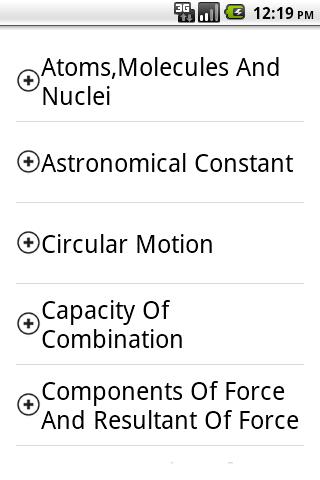 Physics Formule