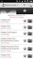 Screenshot of MaxIure Leyes
