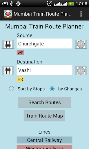 Mumbai Train Route Planner