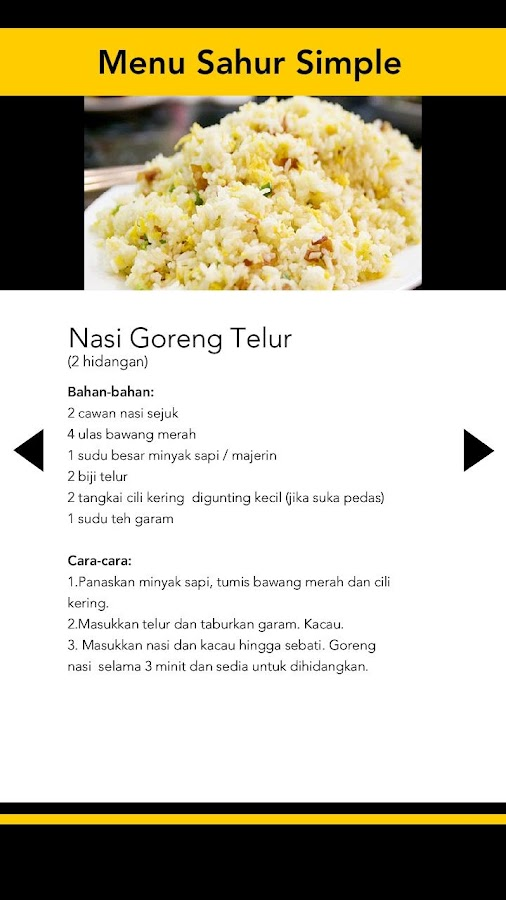 Menu Sahur Simple Screenshot