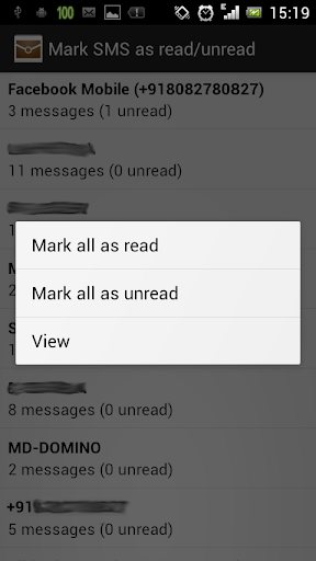SMS read unread