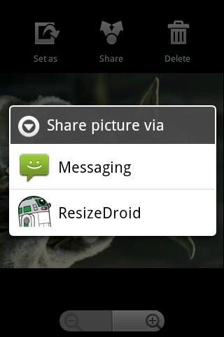 ResizeDroid - screenshot