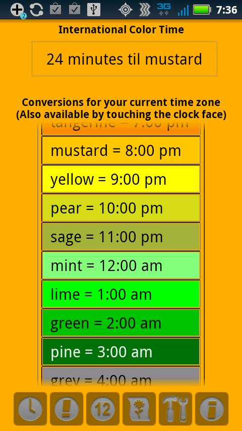 Color Time Clock - screenshot