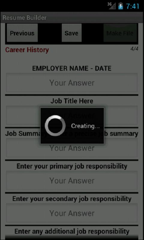 resume builder pro hd android apps on google play