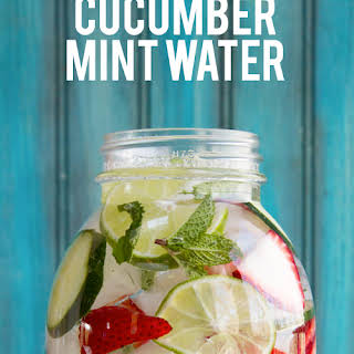 Strawberry, Lime, Cucumber and Mint Water.