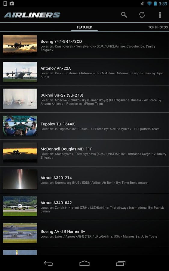 Airliners.net - screenshot