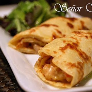 Chicken and Shellfish Crepes.