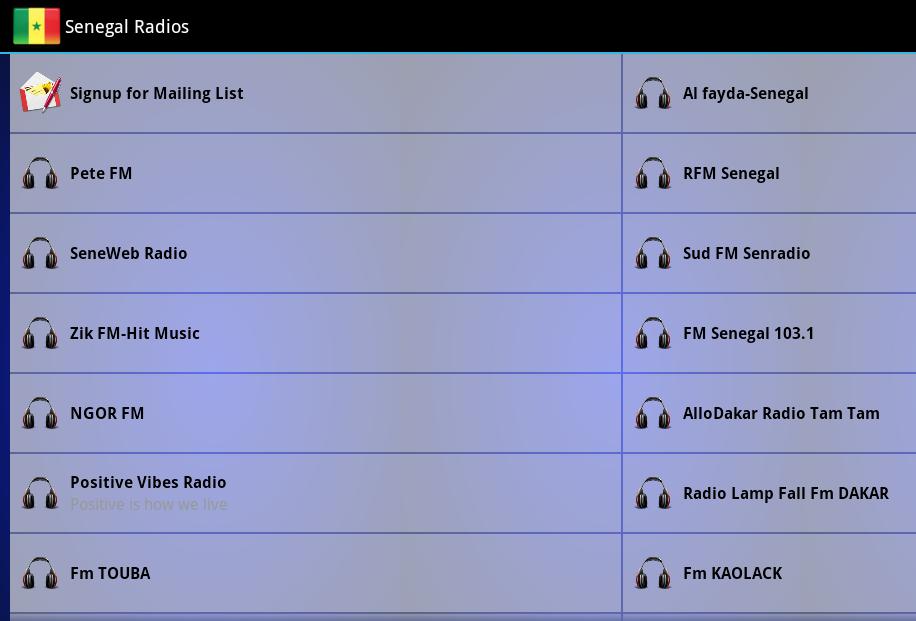 Senegal Radios - screenshot