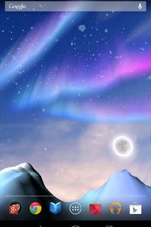 Aurora 3D Live Wallpaper- screenshot
