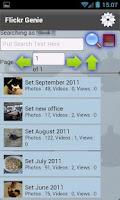 Screenshot of Flickr Genie