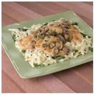 Chicken Marsala with Pasta.