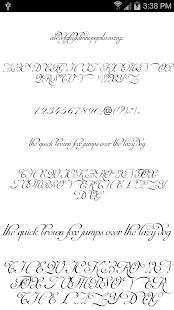 Fonts for FlipFont Script Font