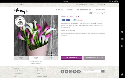 Bouqs™ - Flowers, Simplified - screenshot thumbnail