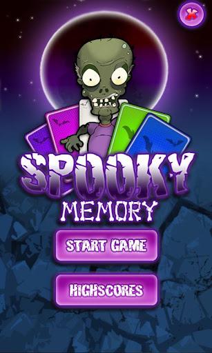 Spooky Memory Karten Spiel